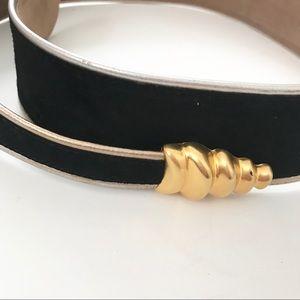 **Donna Karan** Vintage leather rattle snake belt